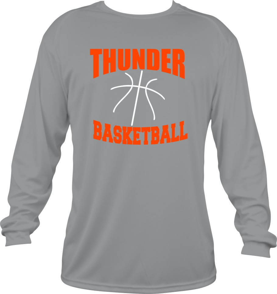 Thunder Basketball in Vinyl