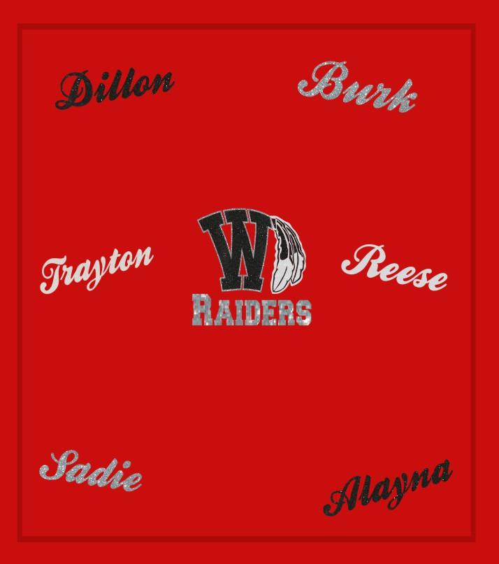Wamego Custom Glitter Blanket