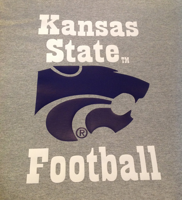 Vinyl Grey Kansas State Football Blanket