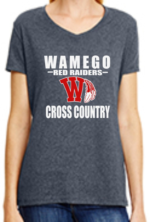 Ladies Vinyl Wamego Cross Country V-Neck