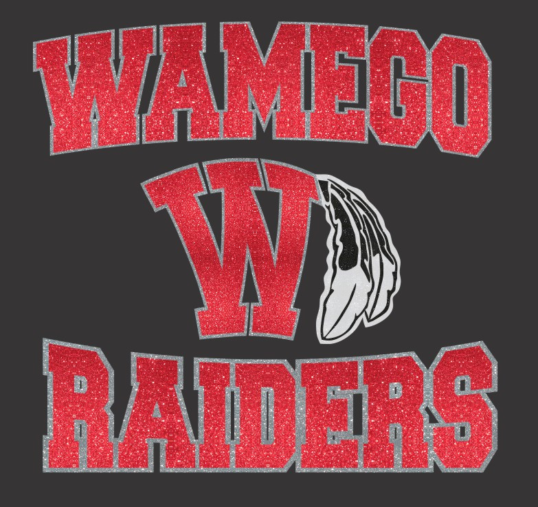 WAMEGO RAIDERS WITH W AND FEATHERS