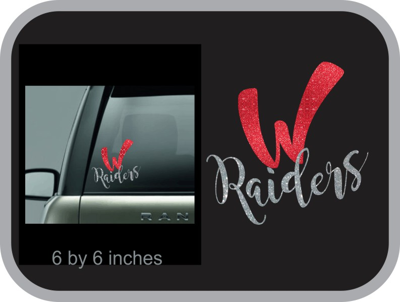 W Glitter Window Decal