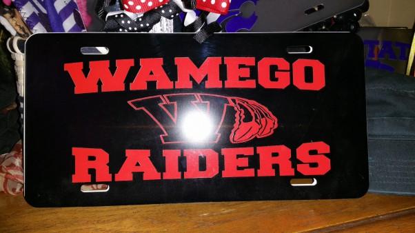 Wamego Black License Plate