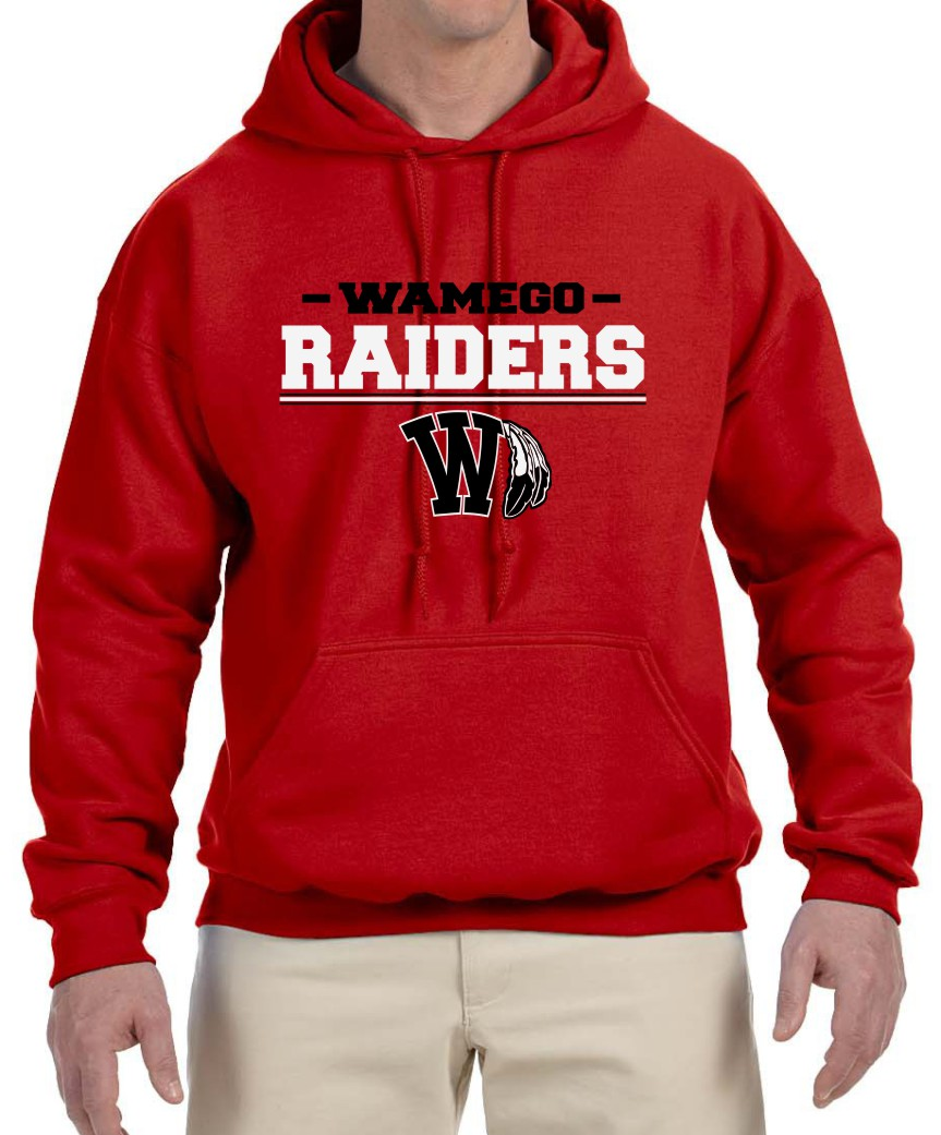 Men's Vinyl Raiders Red Hoodie