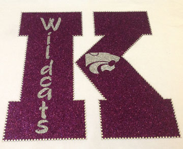 White Shirt with Large K and Wildcats