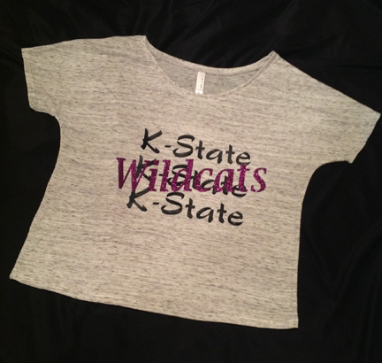 Bella White Marble Flowy K-State Wildcats Top