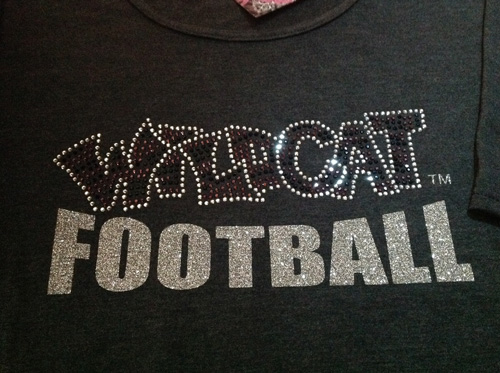 Wildcat Football in Rhinestones