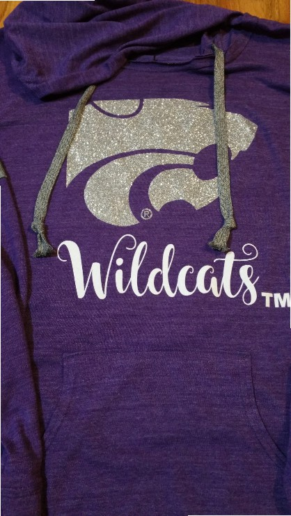 Kansas State Power Cat Light Weight Hoodie