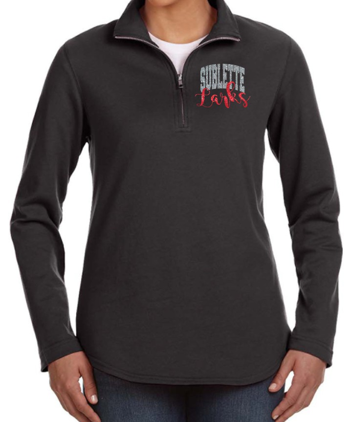 Sublette Glitter Ladies LAT Quarter Zip