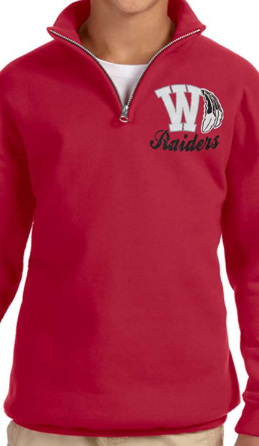 Youth Glitter Raider Quarter Zip