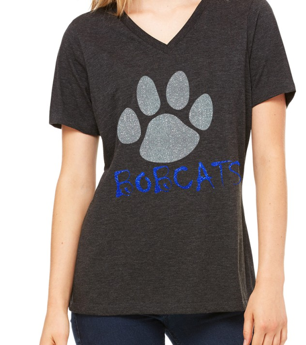 Bella Missy Bobcats with Paw in Glitter