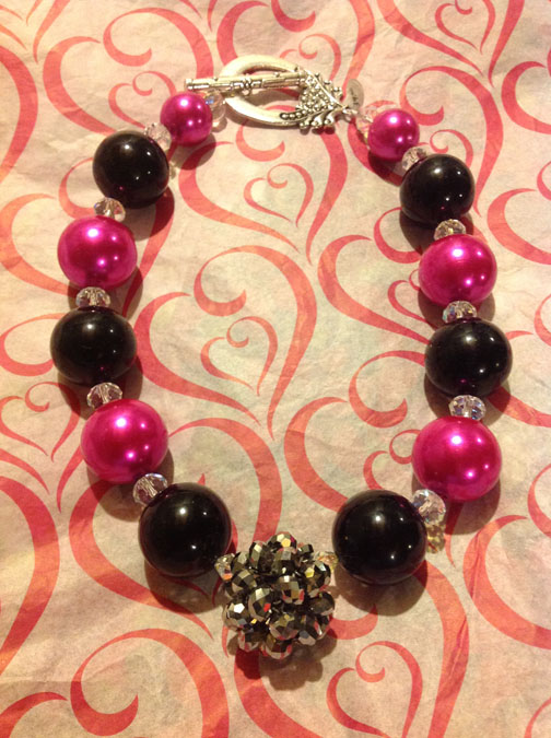 Chunky Pink Necklace