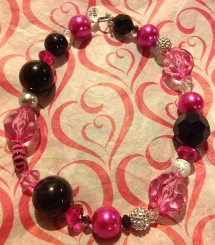 Hot Pink Necklace #13