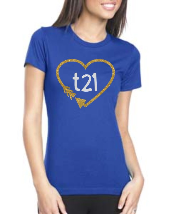 Glitter Downs Syndrome Short Sleeve t21