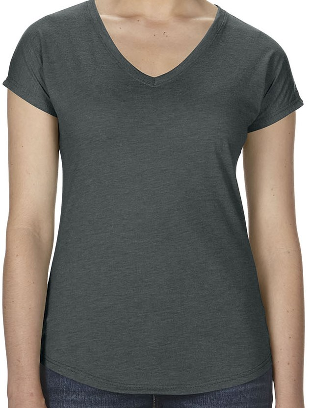 Anvil 6750VL Ladies' Triblend V-Neck T-Shirt