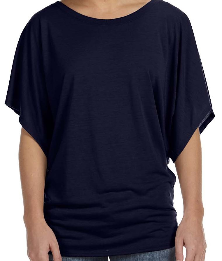 Bella + Canvas 8821  Ladies' Flowy Draped Sleeve Dolman T-Shirt