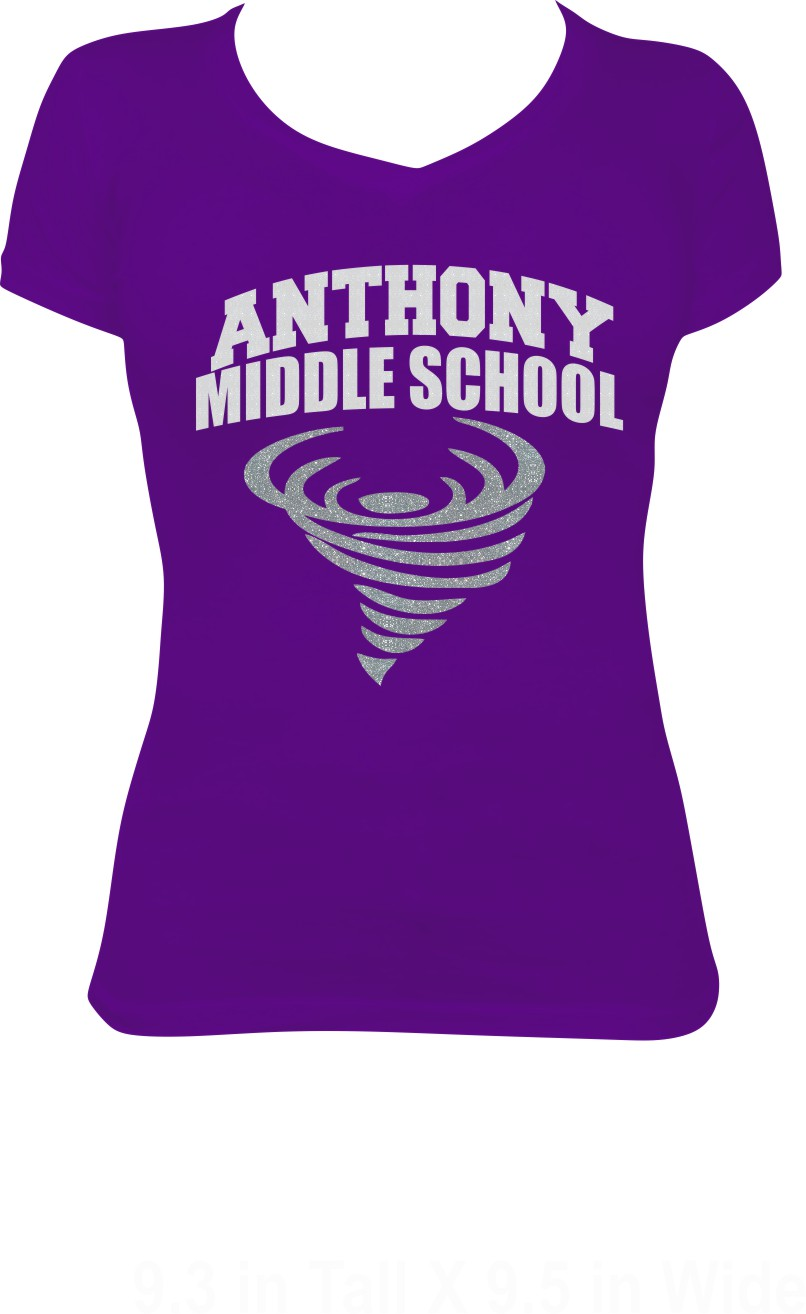 Anthony Middle School Glitter Tee