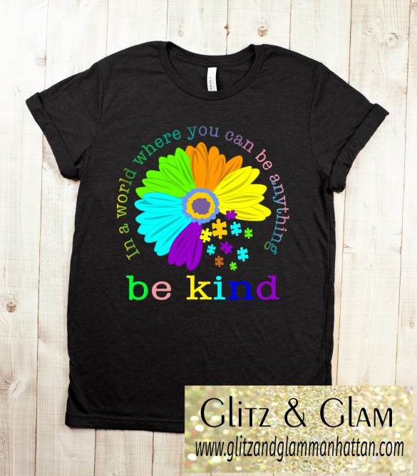 Autism Awareness Bright Sunflower T-Shirt