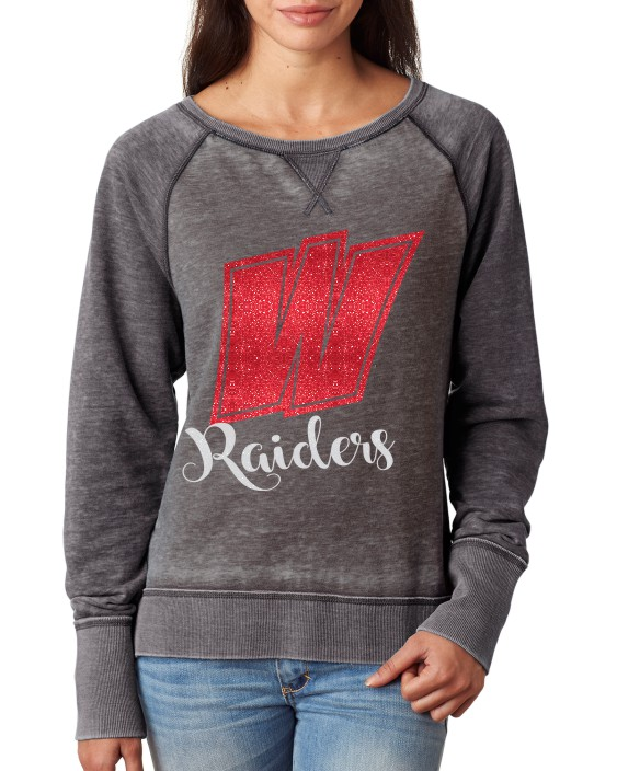 Ladies Raider Glitter Solid Sweatshirt J America