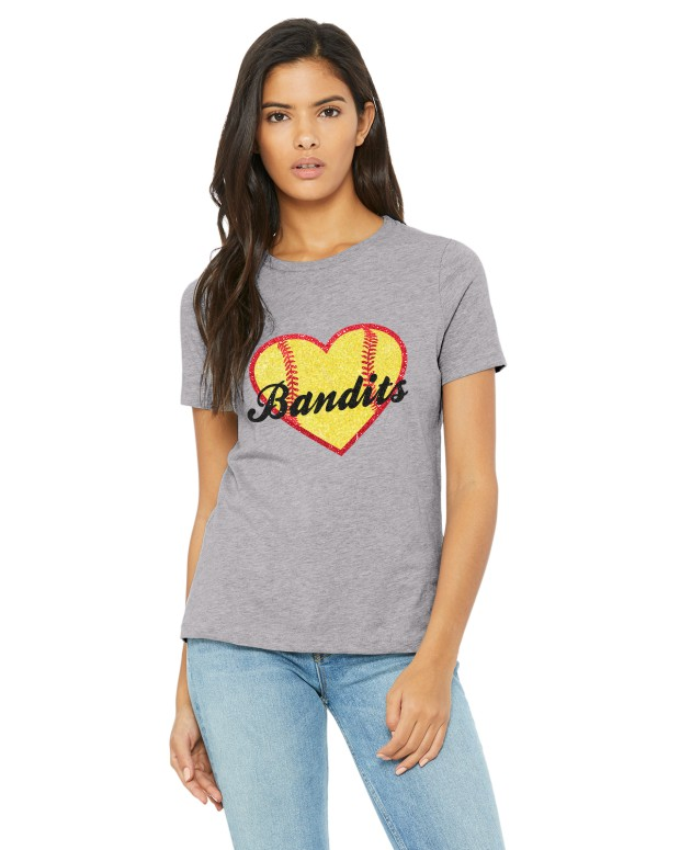 Bandits Glitter Heart Tee