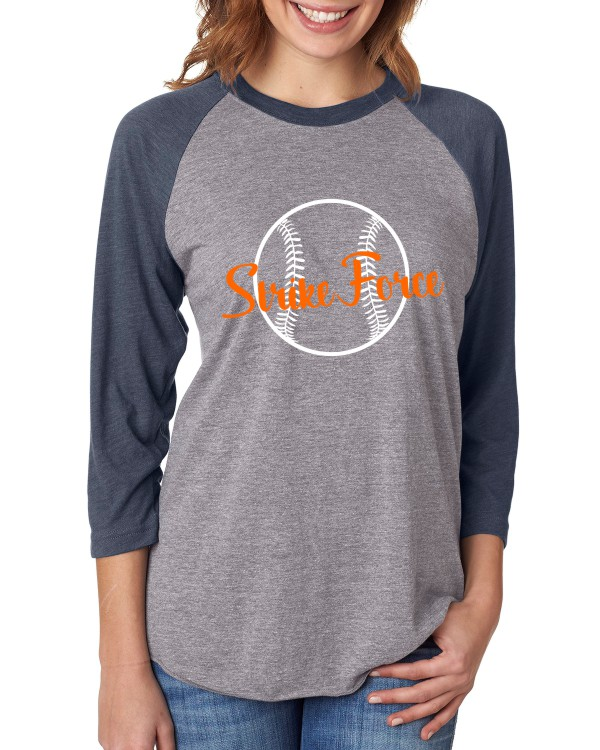 Baseball Tee with Vinyl Ball and Strike Force