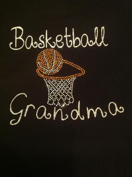 Basket Ball Grandma Shirt with Rhinestone Hoop