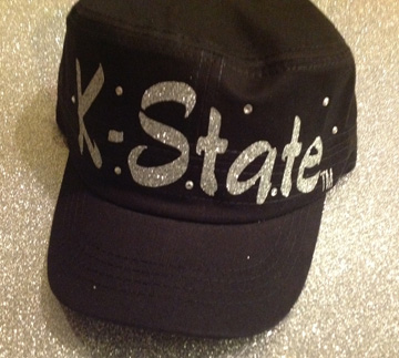 Black Cadet with Silver Glitter K-State