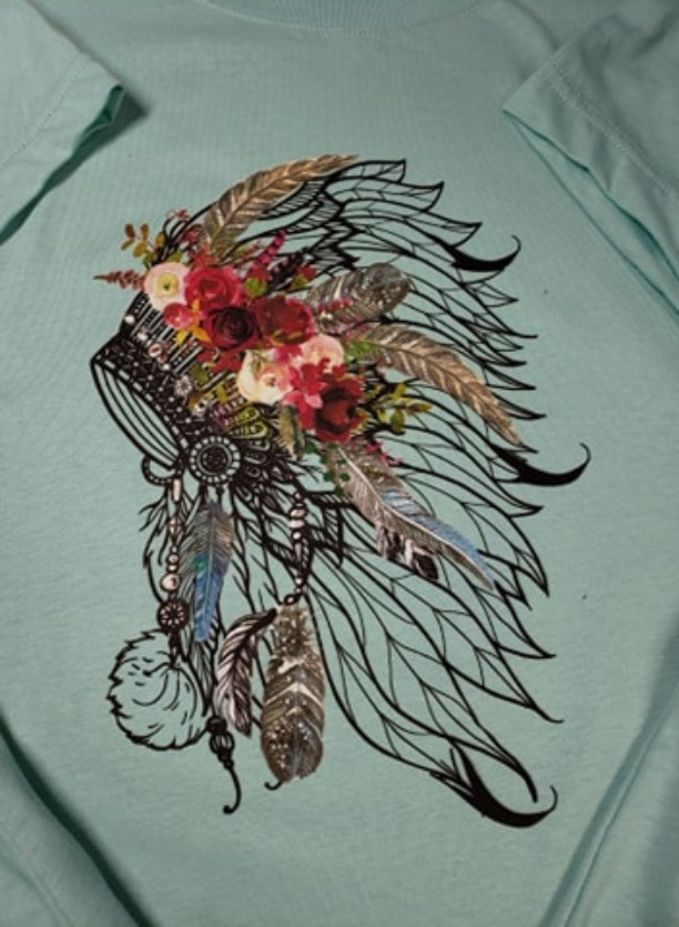 BOHO Head Dress Printed T-Shirt