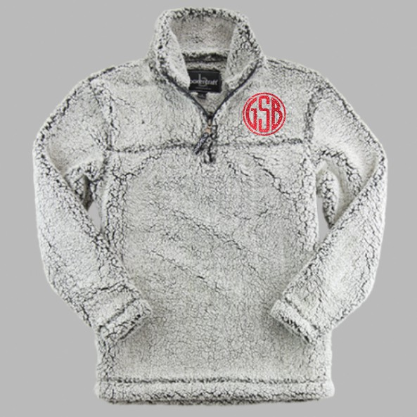 BoxerCraft Quarter Zip Sherpa Frosty Grey
