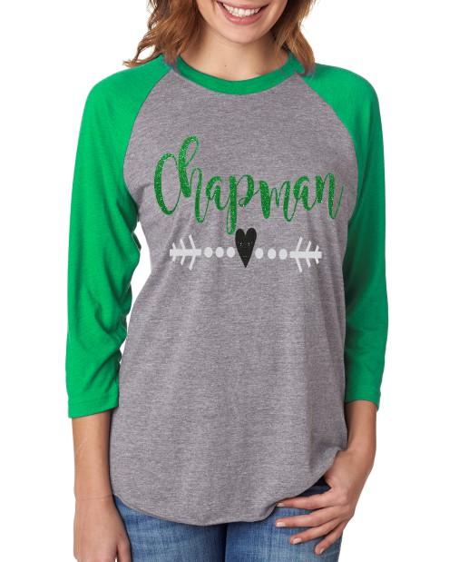 Chapman Heart Arrow Baseball Tee