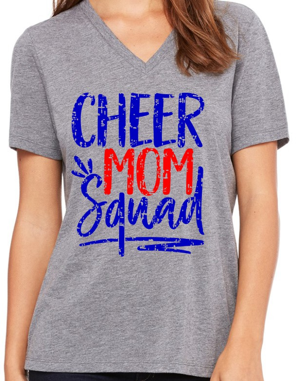 Rams Bella Ladies V-Neck Cheer Mom Squad