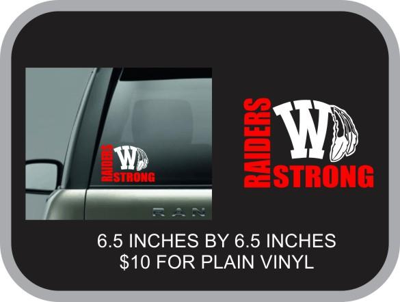Raider Strong Vinyl Window Decal