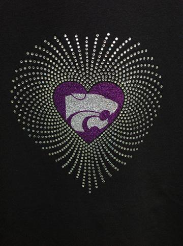 Faded Heart Wildcat Shirt