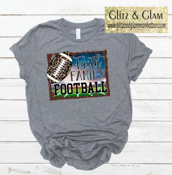 Football 2019 Faith Family Football T-Shirt