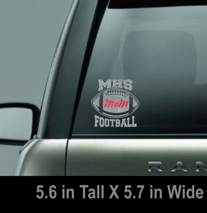 Glitter MHS Football Mom Window Decal