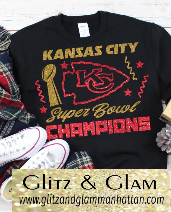 Youth Glitter Chiefs Champion Shirt