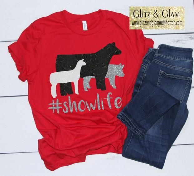Glitter Show Animal Trio T-Shirt