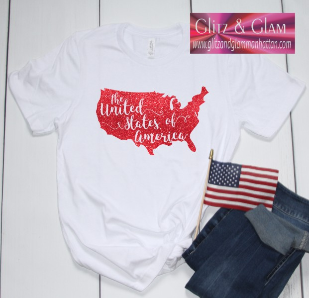 Glitter United States of America T-Shirt