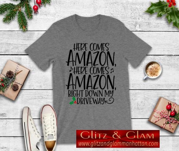 Here Comes Amazon Christmas T-Shirt