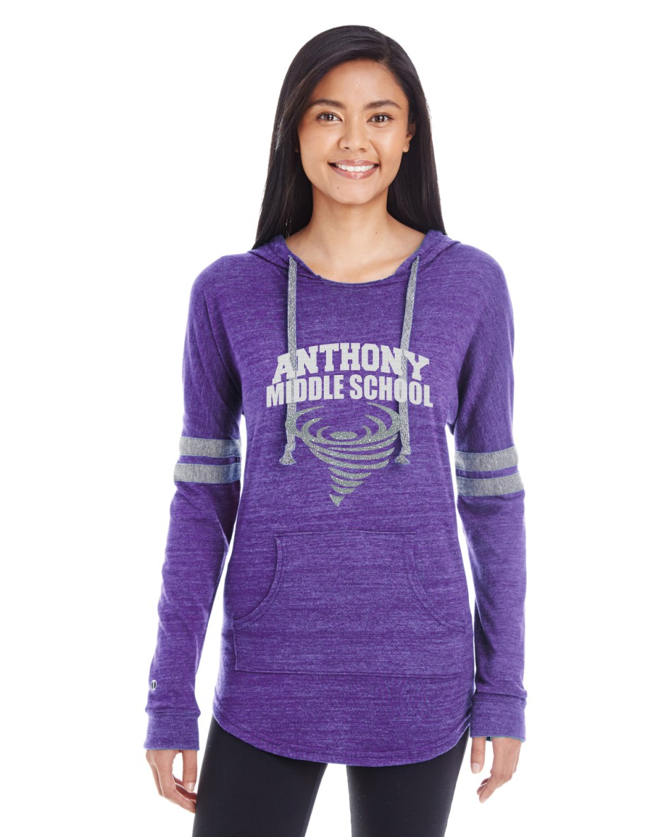 Anthony Middle School Glitter Light Weight Hoodie