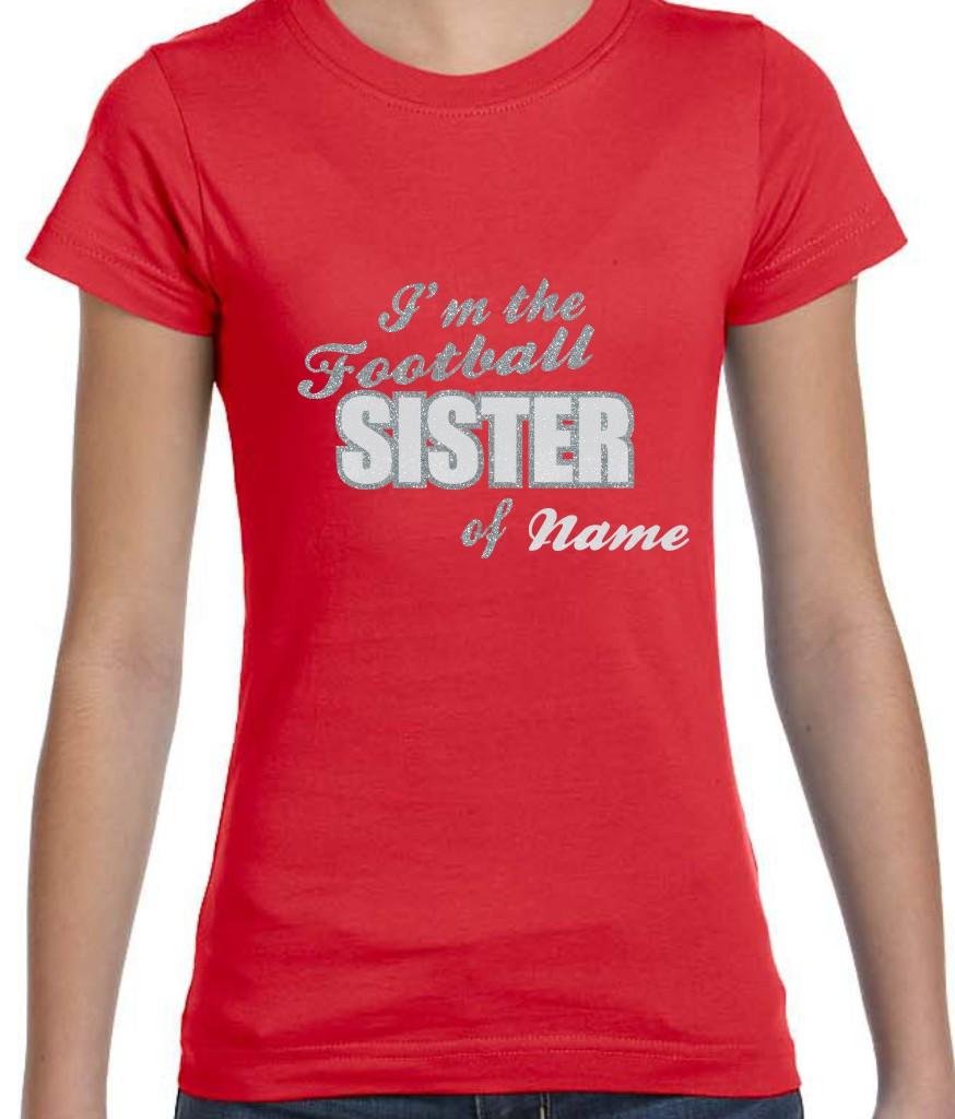 I'm the Football Sister in Glitter