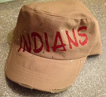 Indians Cadet Hat in Red Glitter