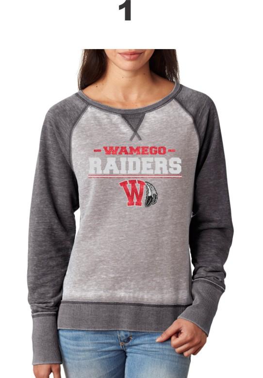 Ladies Raider Glitter Contrast Sweatshirt J America