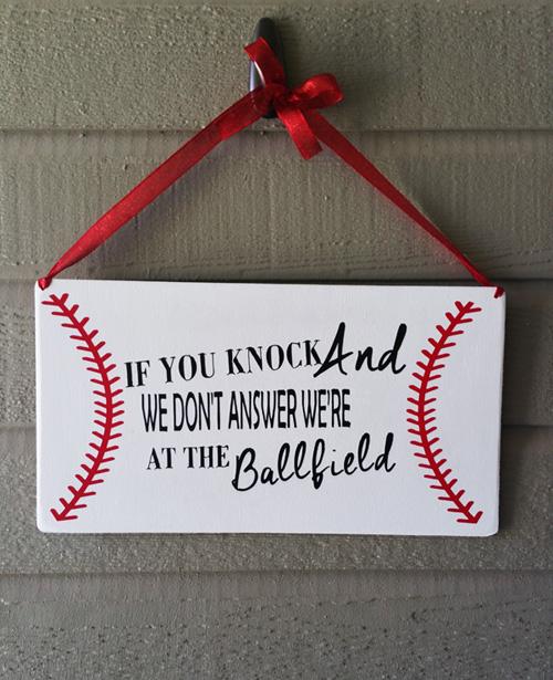 Baseball Door Hang