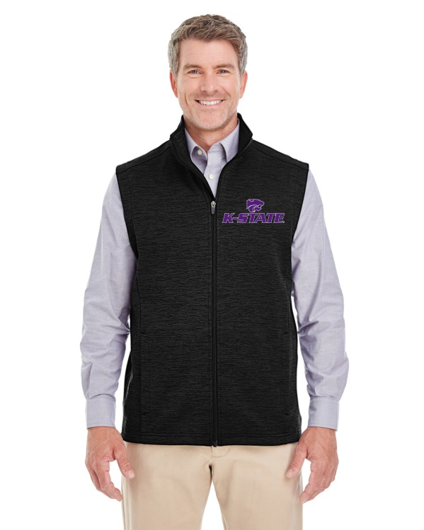 K-State Men's Melange Black Heather Vest