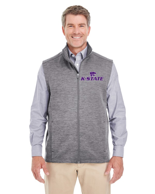 K-State Men's Melange Grey Heather Vest