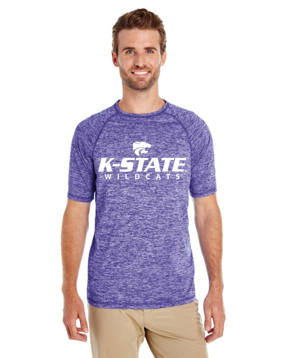 K-State Men's Holloway Performance Short Sleeve Purple Heather
