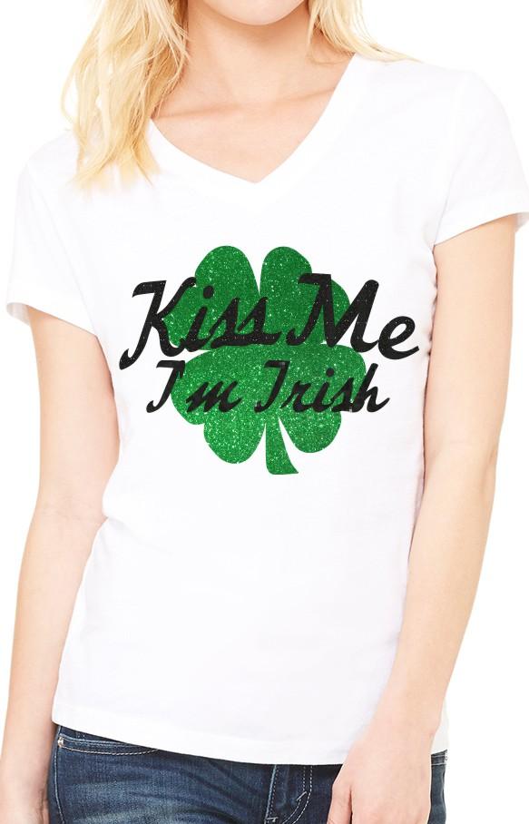 Kiss Me I'm Irish on White