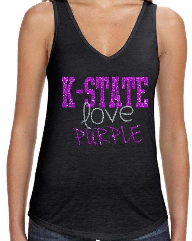 Bella Love Purple Tank Top