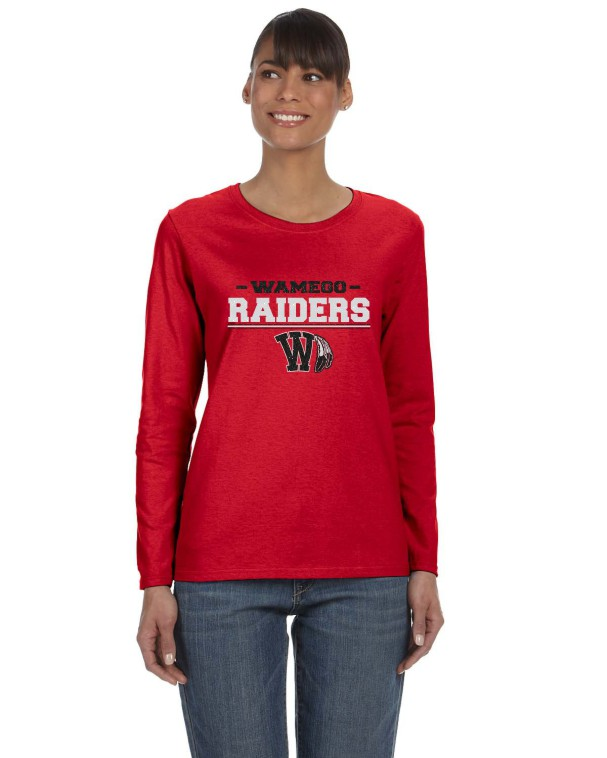 Ladies Raider Glitter Long Sleeve Tee